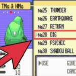 Pokemon Emerald Unlimited TM's and HM's Cheat