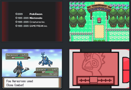 Pokemon Platinum Red Blue Versions