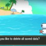Pokemon Sun Moon Delete Saved Data To Restart