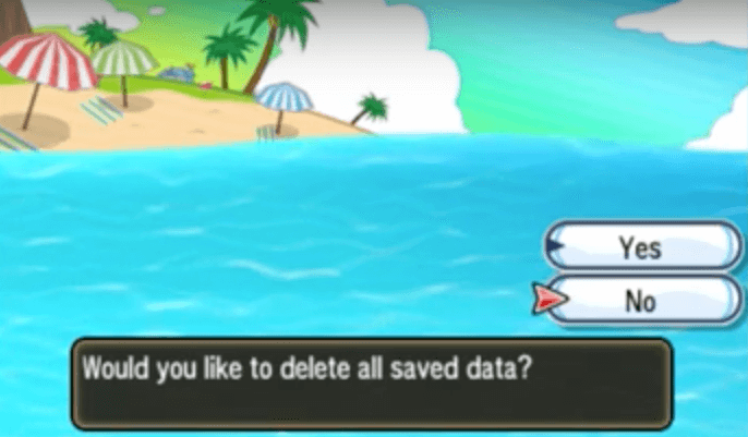 Pokemon Sun Moon Delete Saved Data To Restart