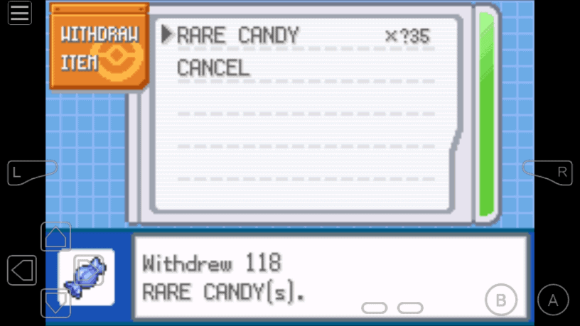 Pokemon LeafGreen Rare Candy Cheat