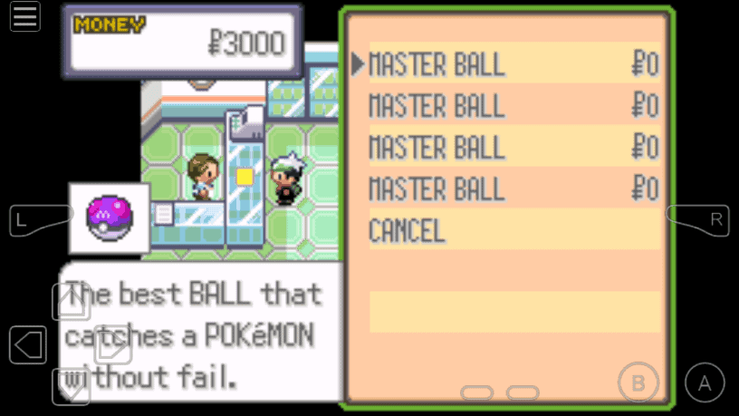 Emerald unlimited Master ball cheat