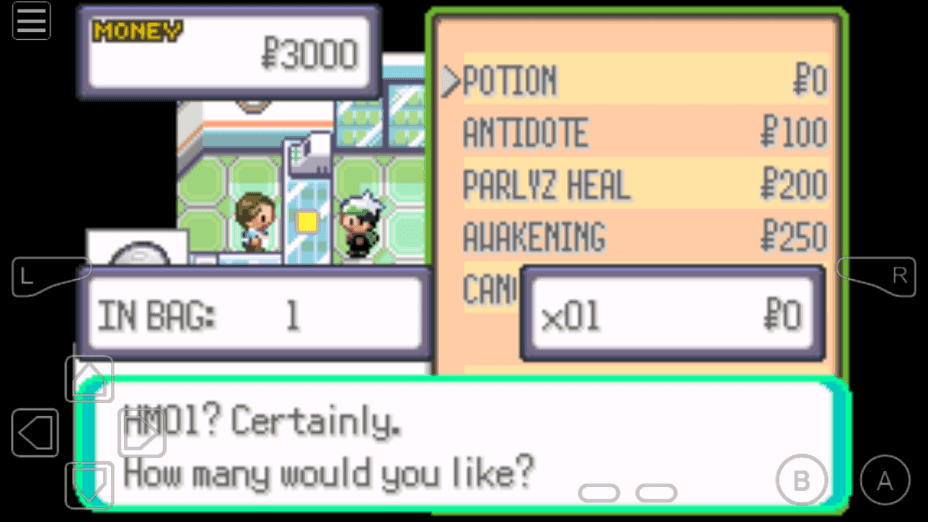 Pokemon Emerald TM HM cheat
