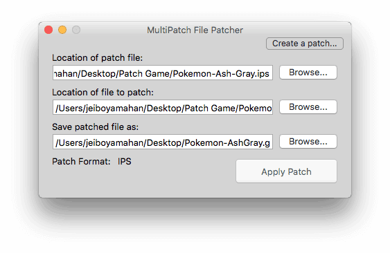 Browse files for patching Multipatch