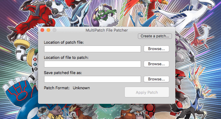 MultiPatch Patch ROM on MAC OS