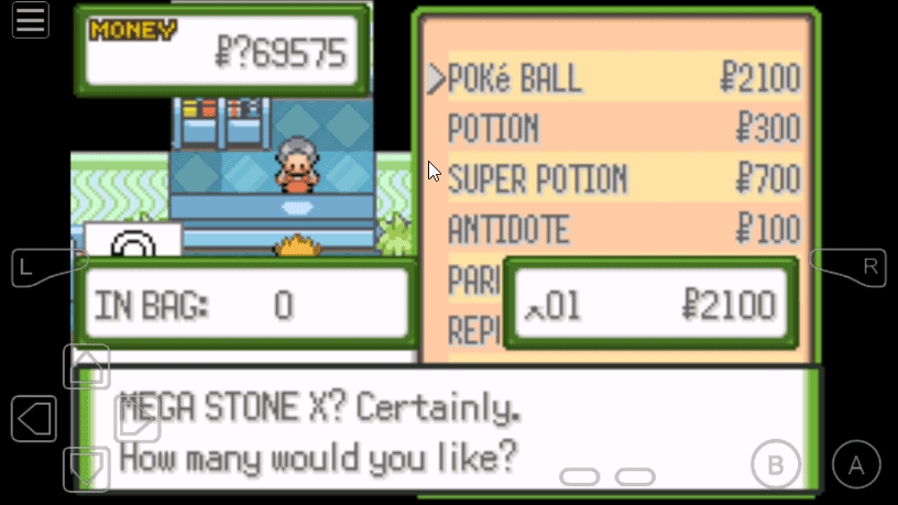 Pokemon Glazed Mega Stone cheat