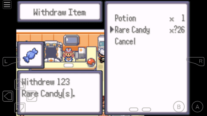 Unlimited Rare Candy cheat Pokemon Theta Emerald EX