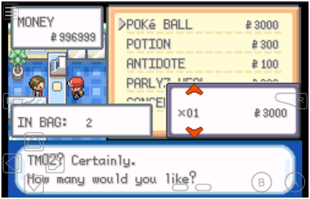 Pokemon FireRed Cheats by way of Gameshark codes