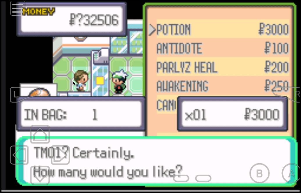Pokemon Mega Emerald XY TM/HM cheat
