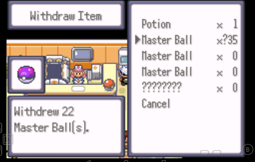 Pokemon theta emerald ex master ball in pc cheat