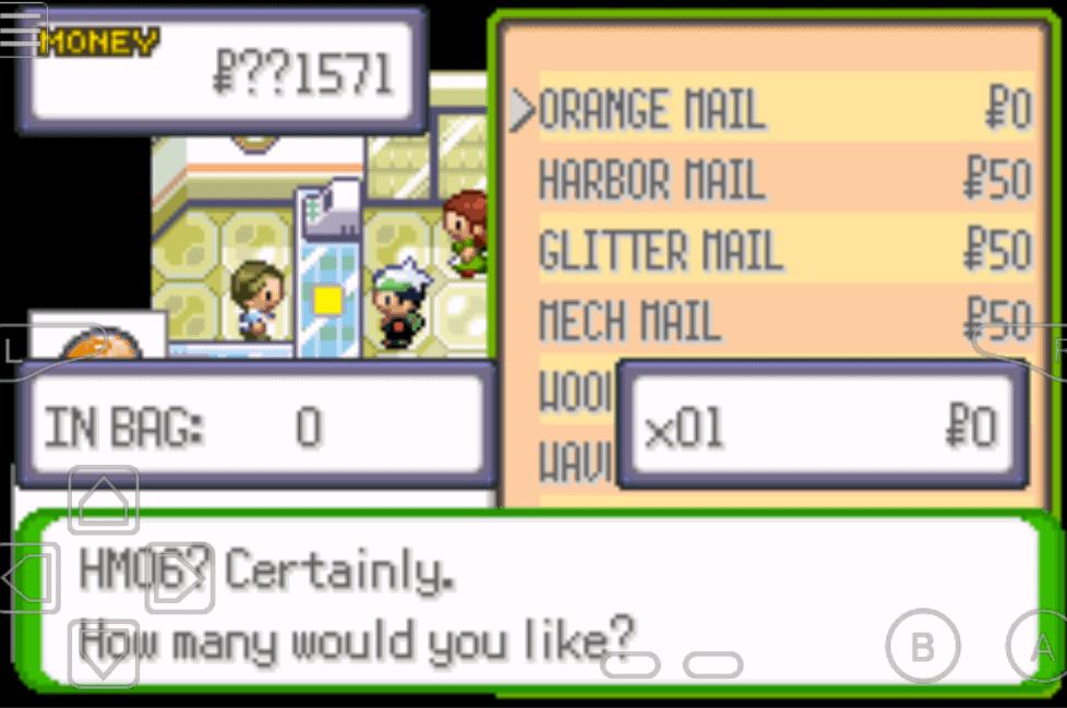 Pokemon Flora Sky TM/HM Cheat