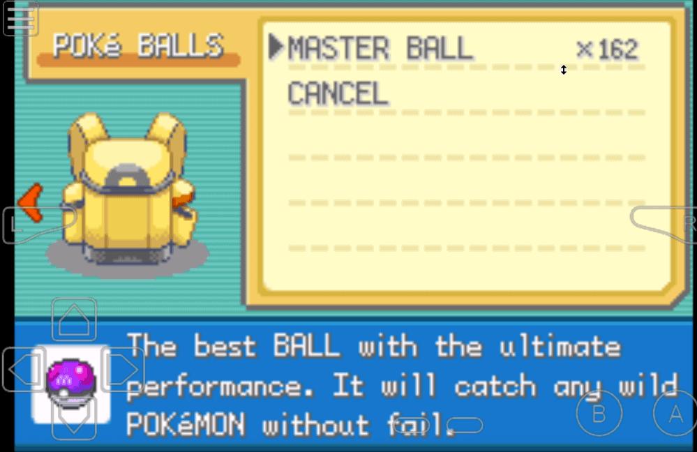 Pokemon Dark Rising 2 Master ball cheat