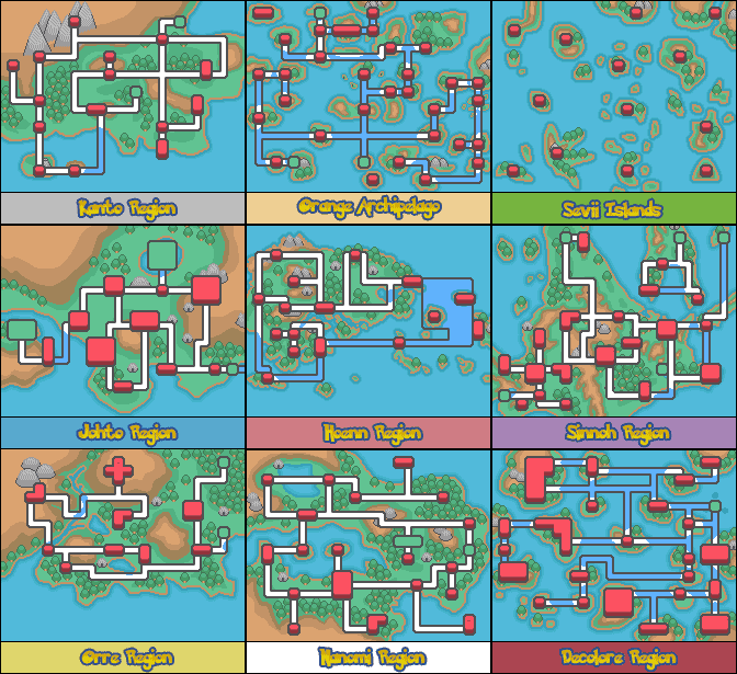 Pokemon Adventures Red Chapter Beta 12 regions