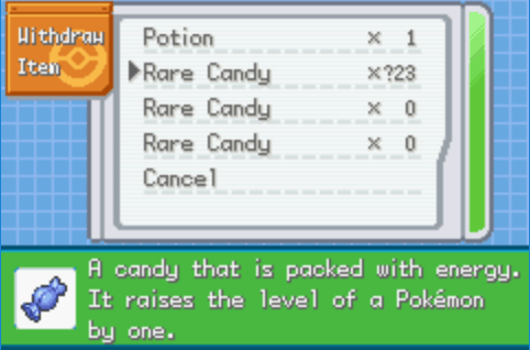 Pokemon Clover Unlimited Rare Candy PC