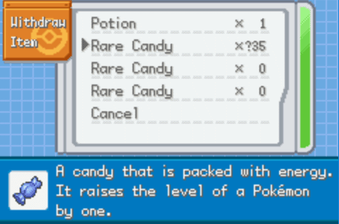 Pokemon Cloud White 2 Rare Candies PC