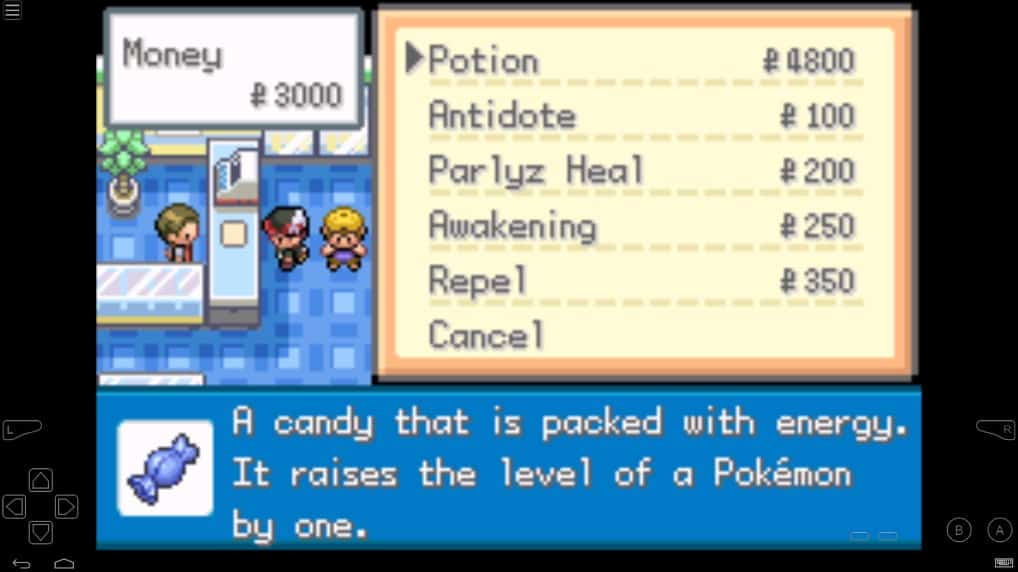 Pokemon Gaia v3 Rare candy cheat