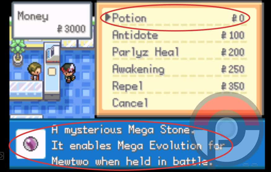 Pokemon Gaia v3 mega stone cheat