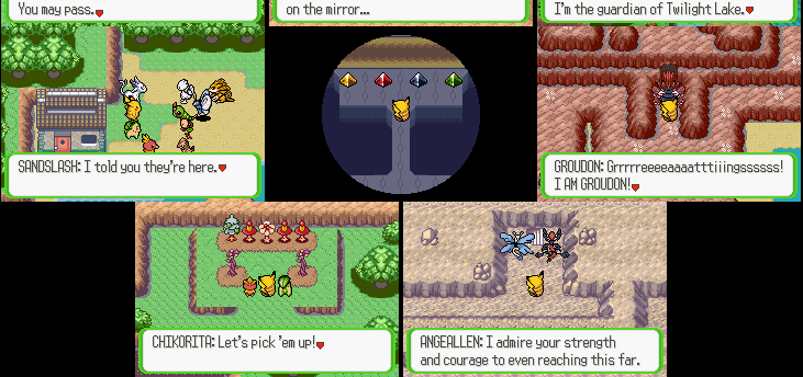 Pokemon Ruby Destiny - Rescue Rangers  scenes