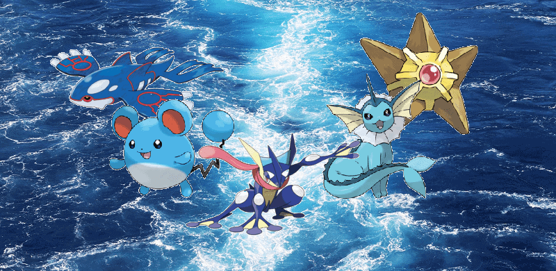 Water Pokemon Strength and Weakness