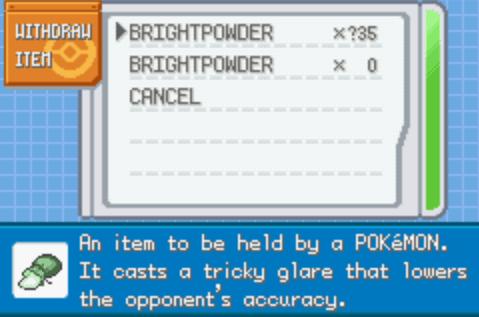 Pokemon Advanced Adventure Item cheat