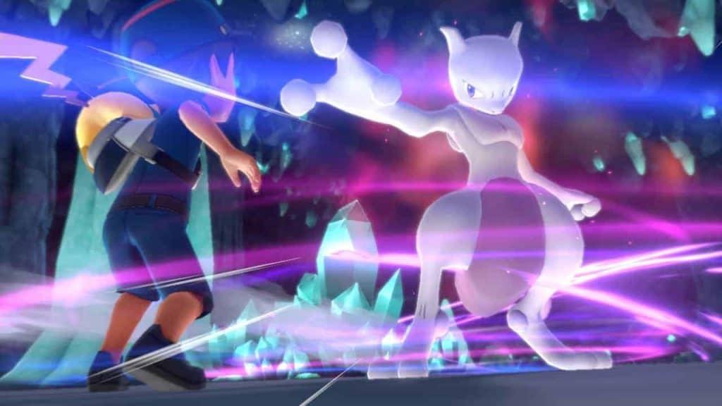 Pokemon Let's Go Battling Mewtwo