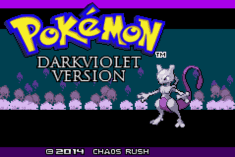 Pokemon Dark Violet Title Screen