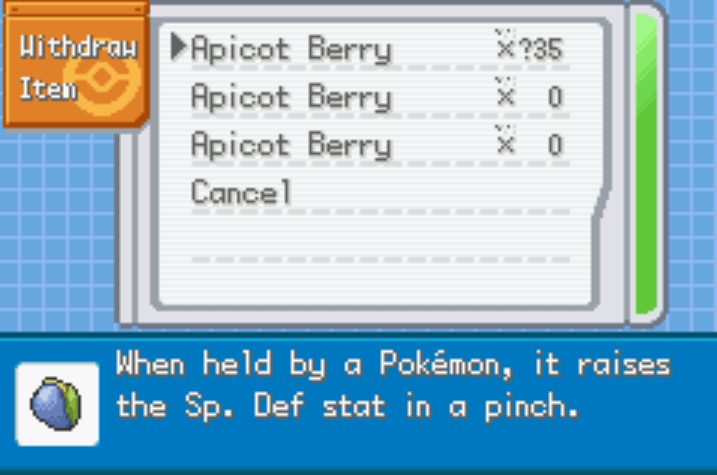 Pokémon Saiph Berries trapacear