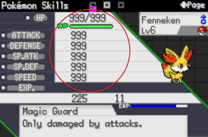 Pokémon Saiph Max stat cheat