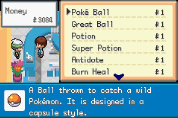 Pokémon Saiph Pokémon Mart 1 cheat