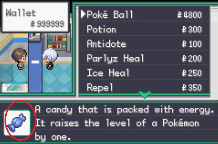 pokemon unbound rare candy cheat