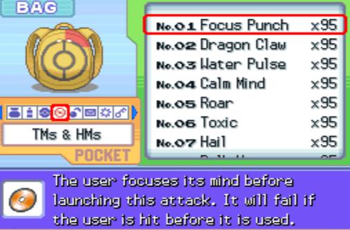 Pokemon Diamond All TM HM cheat