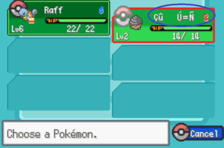 glitchy pokemon name