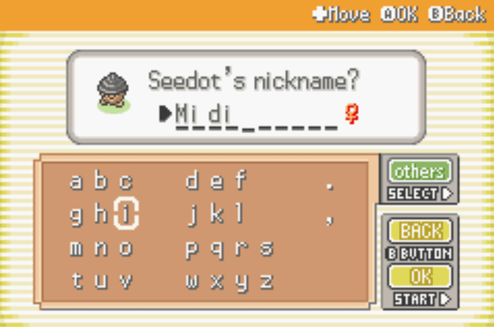 rename shiny pokemon cheat