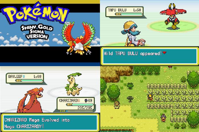Pokemon Ultra Shiny Gold Sigma best ROM hacks for 2021 with Mega Evolution