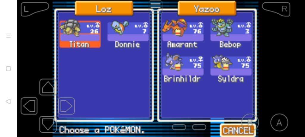 Step 23b how to trade Pokemon in MyBoy
