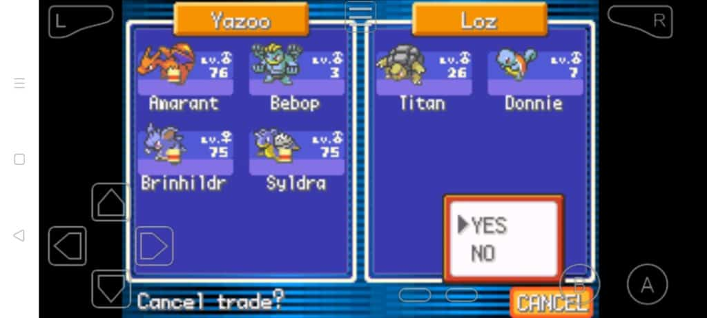 Step 24 how to trade Pokemon in MyBoy