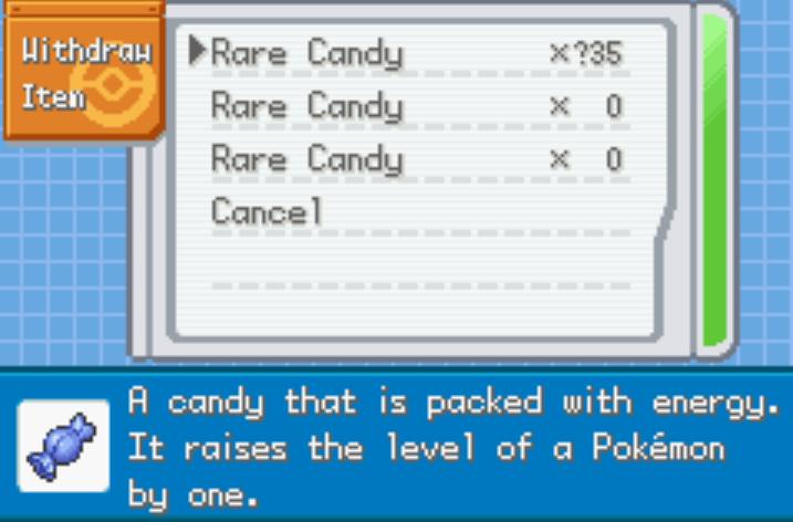 rare candy pokemon mega origins cheat