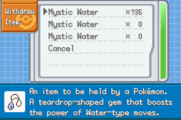 pokemon mega origins cheat misc items