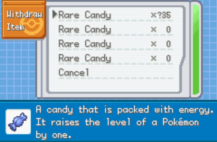 unli rare candies pokemon firered nameless project cheat