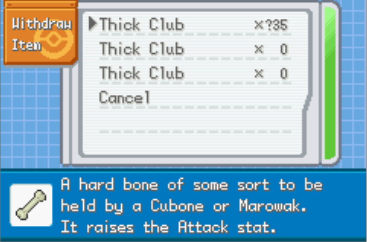 unli misc items Pokemon FireRed Nameless Project Cheat