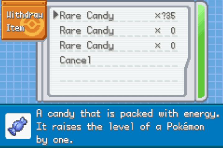 Unlimited Rare Candies pokemon eclipse cheat
