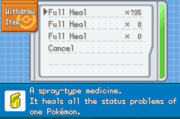 unlimited healting items pokemon eclipse cheat