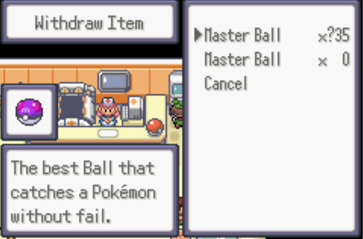 unlimited master balls Pokemon Moon Emerald Cheat