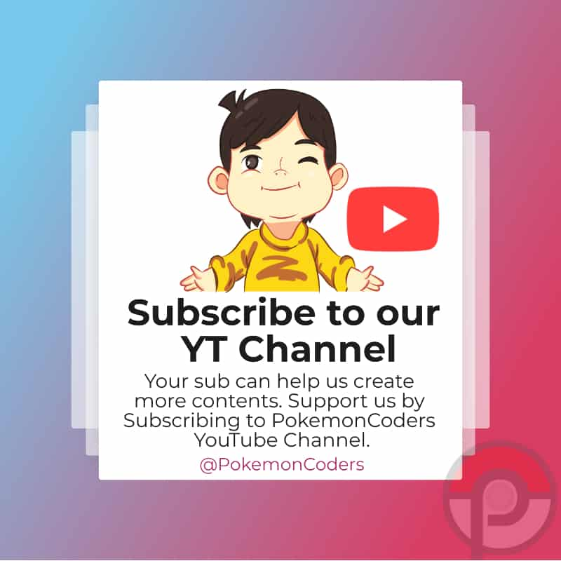 Support PokemonCoders on YouTube
